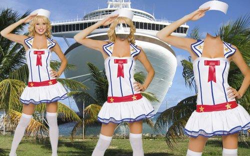 Шаблон для фото - В форме морячки