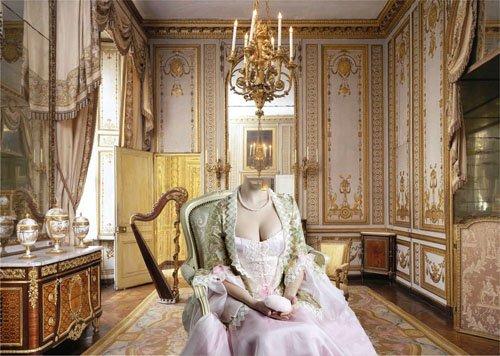 Шаблон женский - Дама в красивом платье