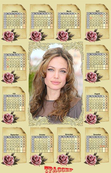 Календарь на 2015 год - Благоуханье алых роз