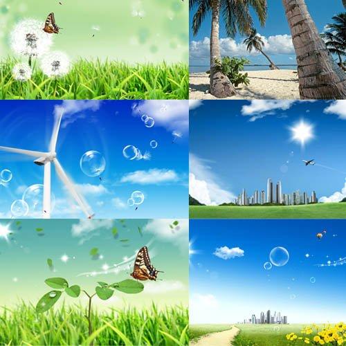 Клипарт для фотошопа - Солнечное лето
