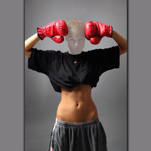 Шаблон для фото - Девушка боксерша