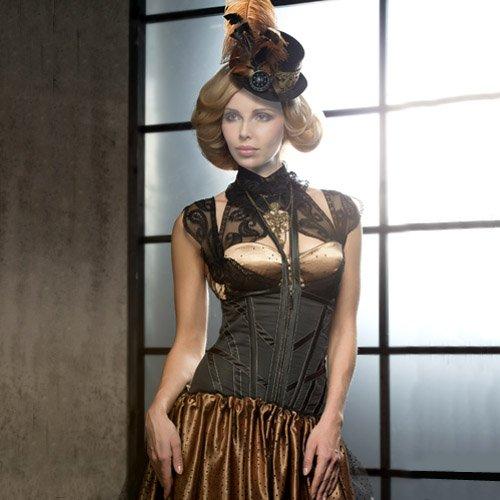 PSD шаблон для девушек - Девушка в красивом платье и шляпке