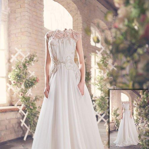 Шаблон для фотомонтажа - Фотосессия в красивом платье