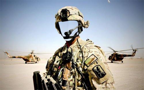 Шаблон для мужчин - Военный в форме