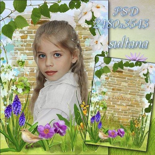 Цветочная рамка для фото - Цветочное поле
