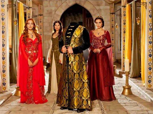 Шаблон для фотомонтажа - Богатый султан во дворце