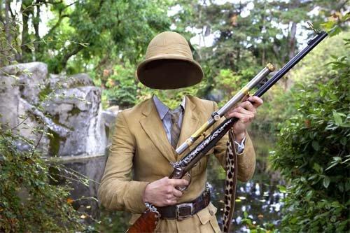 Охота с оружием в Джунглях - мужской шаблон