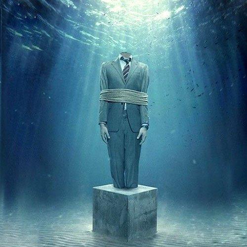 Шаблон мужской - Под водой