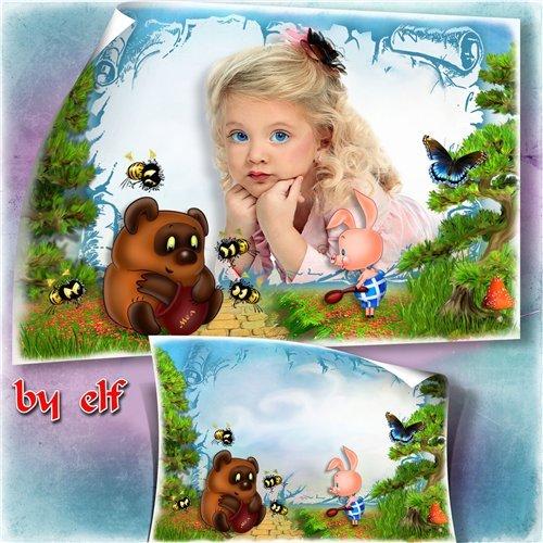 Фоторамка для детских фото - Винни Пух