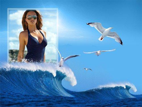 Рамка для фото - Море и чайки