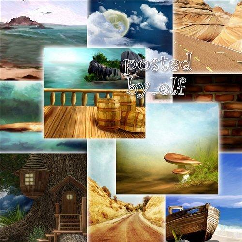 Красочные фоны для дизайна