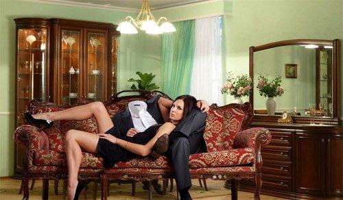 Шаблон для фотошопа - Красивая девушка с вами вместе