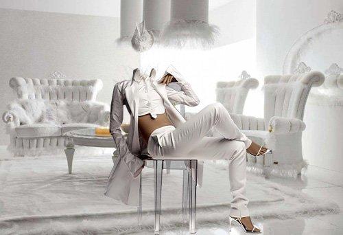 Шаблон для фотошопа - В белом костюме