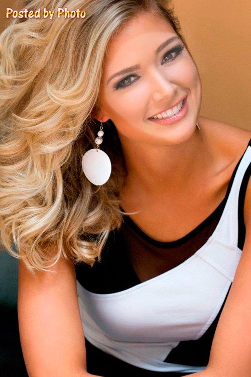 Женский шаблон - Очаровательная блондинка