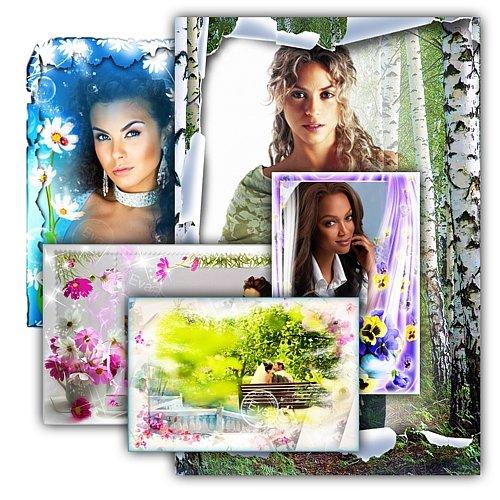 Сборник фоторамок - Цветочный рай