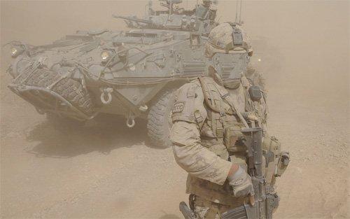 Шаблон мужской - Армия и песчаная буря