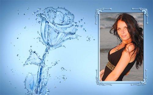 Цветок из воды - Фоторамка
