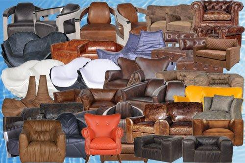 Клипарт Кожаные кресла часть 2