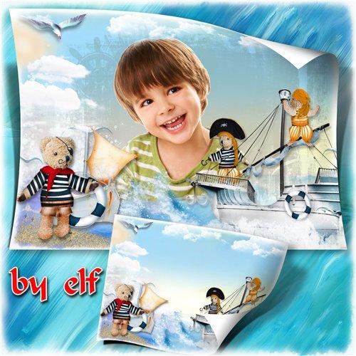 Детская фоторамка - Пиратский остров