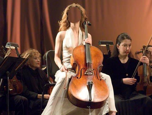 Шаблон для Photoshop - Красивая музыка виолончели