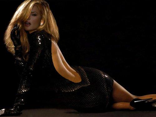 Шаблон для фотомонтажа - В черном платье