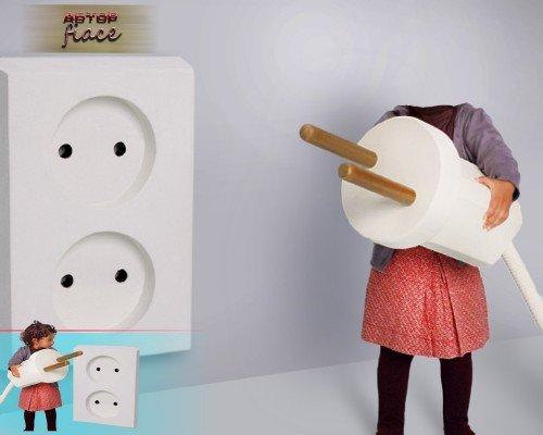 Многослойный шаблон для девочки - С током на ты