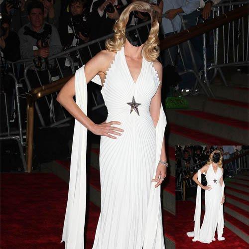 Шаблон для фото - Кинозвезда в белом платье