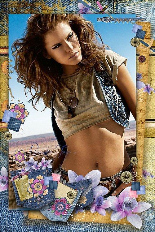 Рамочка для фотошоп - Мой джинсовый стиль