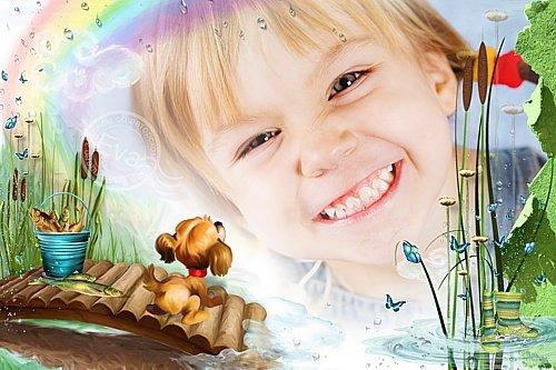 Детская фоторамочка - Твое веселое детство