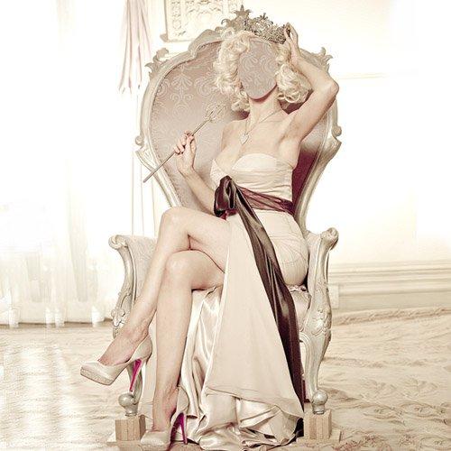 Шаблон psd - На кресле с короной