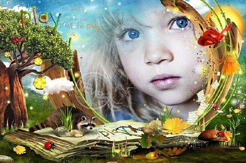 Детская рамочка для фотошопа - Время играть