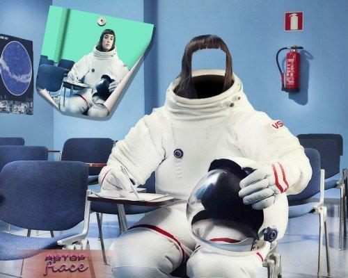 Фотошаблон для фото - Уроки космонавтики