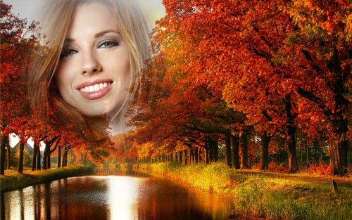 Рамка для фотошопа - Пришла живописная осень