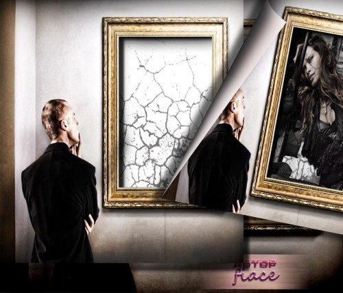 Красивая рамка для фотографий - Красавица еа картине