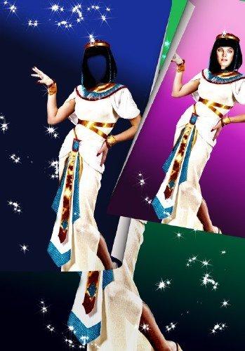 Многослойный шаблон для photoshop - Девушка из Египта