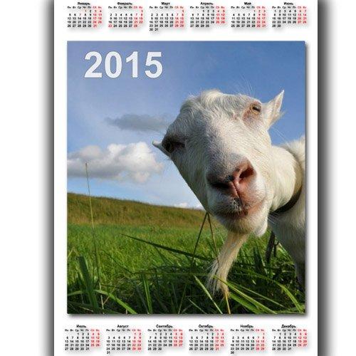 Календарь - Смешная коза