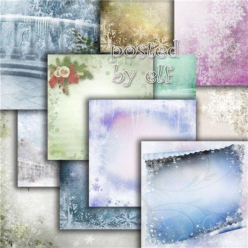 Подборка зимних фонов - А снег кружит лебяжьим пухом