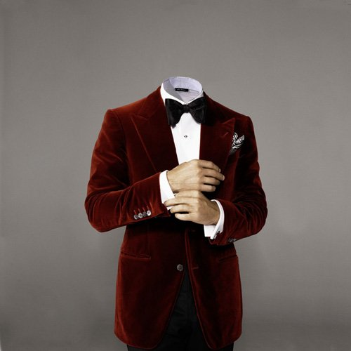 Шаблон psd - В красном пиджаке