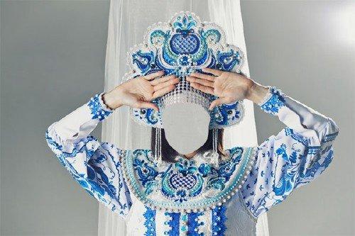 Шаблон для фото - В русском наряде