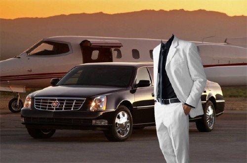 PSD шаблон для мужчин - Богатый бизнесмен в костюме