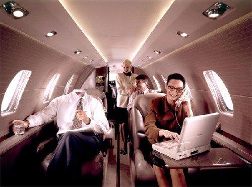 Шаблон для фото - Успешный политик в личном самолете