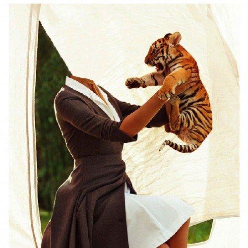 Шаблон для фотомонтажа - Медсестра с тигренком