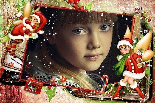 Детская рамочка для фотографий - Зимняя сказка для девочек