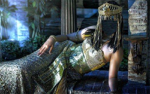 Шаблон для фотомонтажа - Царица Египта в платье