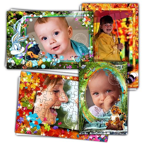 Сборник детских фоторамок - Осенние краски леса