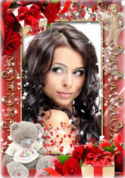 Романтическая рамка для оформления фото - Подарки для любимой