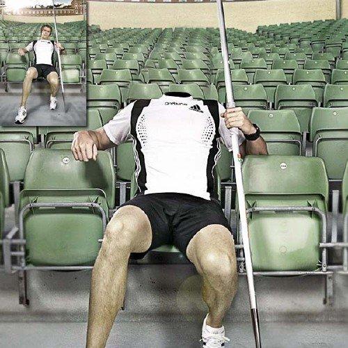 Шаблон для мужчин - Знаменитый спортсмен по прыжкам с шестом