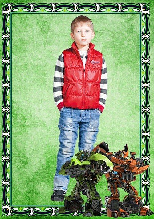 Детская Фоторамка  – Мотоботы. Трансформеры