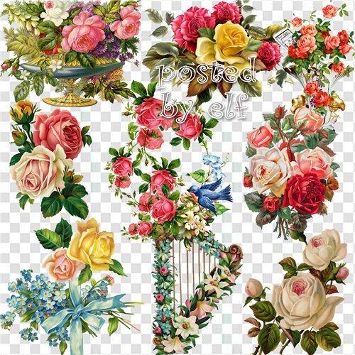 Цветы нам дарят настроенье - PNG клипарт