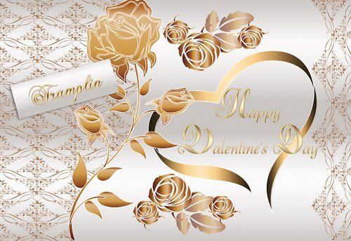 Psd исходник Влюбленным – Сердце и роза